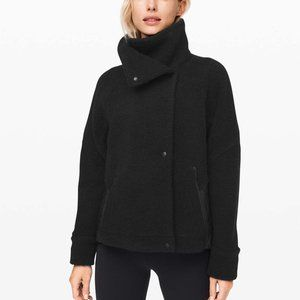 NWT Lululemon Show Me The Sherpa Black Jacket 10